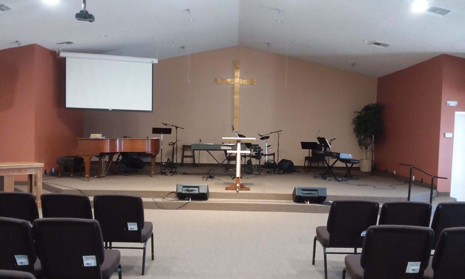 Here is our main worship area for our church campus.